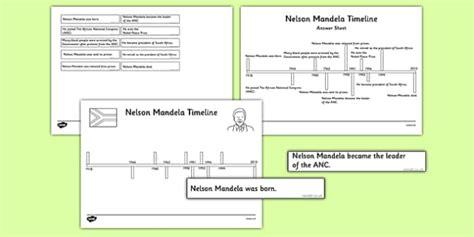 nelson mandela timeline cut and paste activity nelson