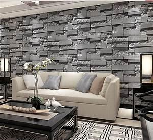 Tv Background Wall Wallpaper Wall Brick Imitation Pattern ...
