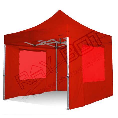 gazebo 4x4 offerta gazebo rapido 4x4 alluminio rosso exa 55mm con finestre