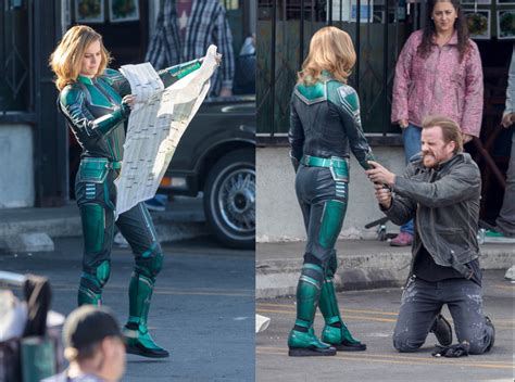 brie larson captain marvel powers first images of brie larson as captain marvel emerge rock 95