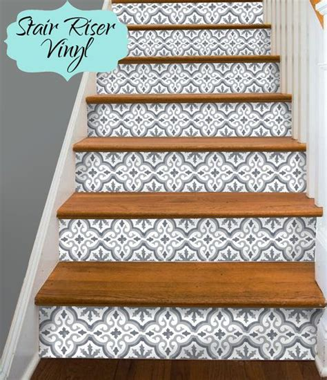 Awesome Tile Stickers Removable Vinyl Wallpaper Designs Solution For Renters by 15 Strips Of Stair Riser Vinyl Decal Removable Sticker