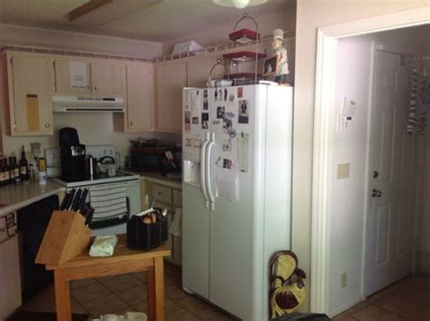 small odd shaped kitchen