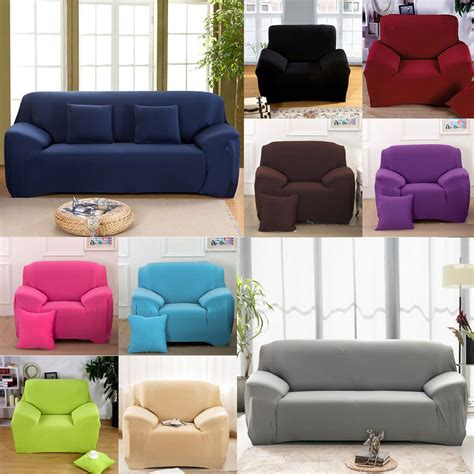 stretch chair cover sofa covers seater protector cover slipcover easy fit ebay - Chair And Sofa Covers