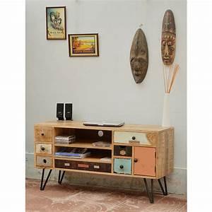 meuble tv design retro fenrezcom gt sammlung von design With meuble tv maisons du monde 4 meuble tv vintage en bois de sheesham massif l 160 cm soho