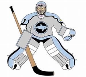 Cartoon Hockey Goalie Step by Step Drawing Lesson
