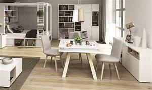 Table Carrée Blanche : table salle a manger bois naturel un79 jornalagora ~ Teatrodelosmanantiales.com Idées de Décoration