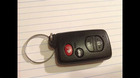 diy   change replace smart key fob battery toyota