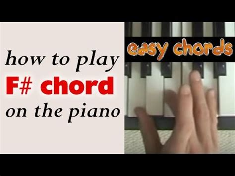 piano chord   play  sharp major chord