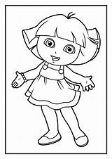 Coloring Dora Explorer Pages Diego sketch template