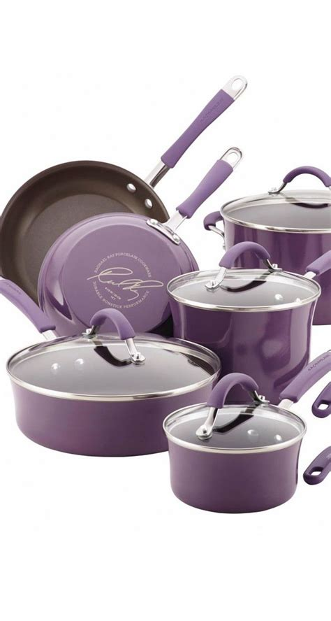 lavender rachael ray cookware set   perfect pop  color rachael ray cookware set