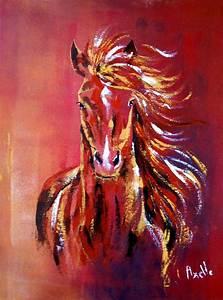 Tableau Peinture Sur Toile : tableau d 39 un cheval au galop dans le vent peintures axelle bosler peintures par peintures ~ Teatrodelosmanantiales.com Idées de Décoration