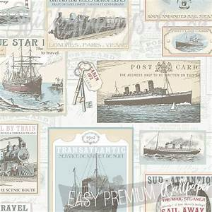 vintage-postcard-wallpaper • StickyThings Wall Stickers ...