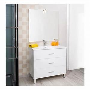 Meuble Vasque Sur Pied : meuble montecarlo sur pied de 900 mm blanc plan vasque c ramique discount negoce com ~ Teatrodelosmanantiales.com Idées de Décoration