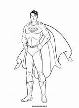 Superman Colorare Da sketch template
