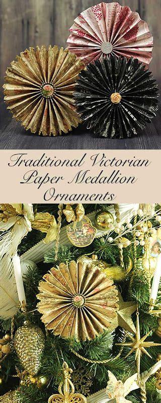 victorian paper fan medallion oranaments paper christmas