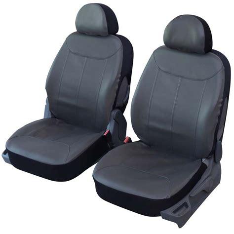 siege auto place avant housses de sièges avant auto simili cuir gris elite