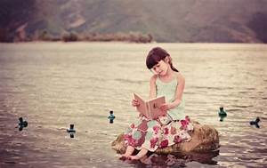 Cute Girl Reading Book wallpapers