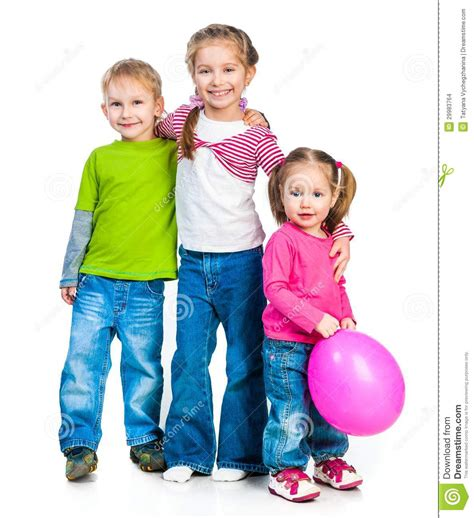 Little Boy And His Sister Stock Photo. Image Of Family