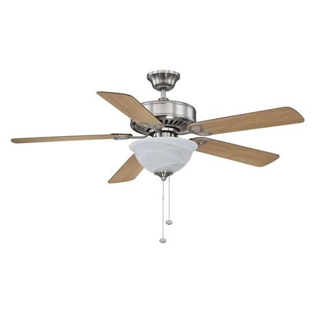 Litex Ceiling Fans Remote by Shop Litex 52 In Brushed Nickel Downrod Or Mount