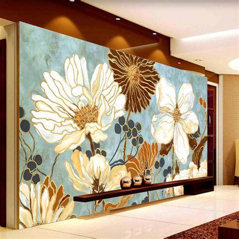 3d Wallpaper Deco by Vintage 3d Wallpaper Painting Flowers Wall Murals Custom