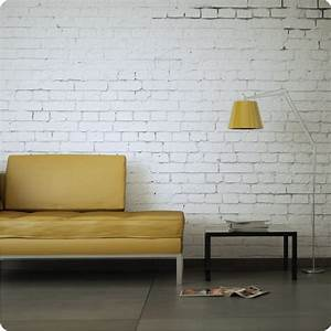 Buy removable wallpaper white brick design
