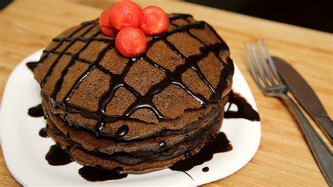 chocolate pancake recipe eggless pancake recipe ruchi