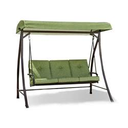 Patio Swings With Canopy Walmart by Replacement Canopy For Green 3 Person Swing Garden Winds