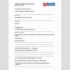 Untermietvertrag Vorlage Zum Ausfüllen Word Und Pdf Startseite