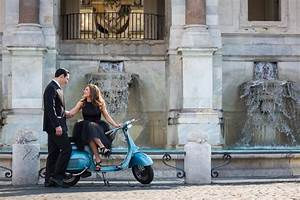 Vespa Engagement Photo Session in Rome Italy | photoshoot ...