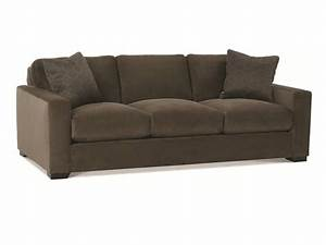Dakota 3 seat sofa shown in a plush deep brown velvet for Large plush sectional sofa