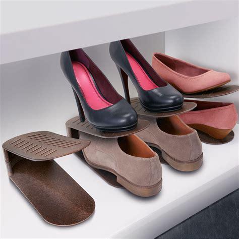 Schuhe Platzsparend Stapeln by Schuhstapler Schuhhalter 8er Set Braun Kaufen