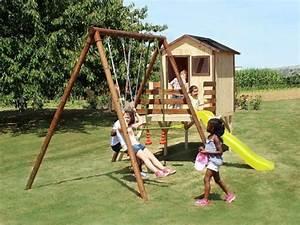Jeux Exterieur Pas Cher : portique cabane enfant lynda ~ Farleysfitness.com Idées de Décoration