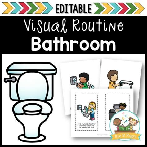 bathroom visual routine pre k pages 479 | new bathroom cover