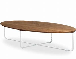 flint 140 oval coffee table hivemoderncom With oblong coffee table