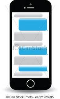 Clip Art Cell Phone Text Screen