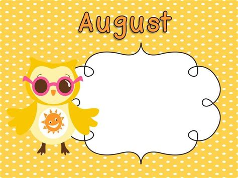 August Clipart - 76 cliparts