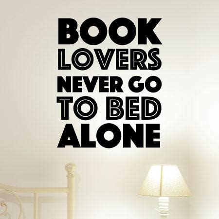 book lovers    bed  wall quotes decal wallquotescom