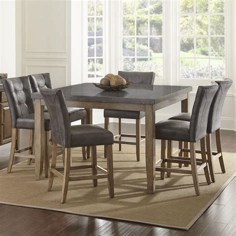 Steve Silver Debby 7 Piece Transitional Square Table And