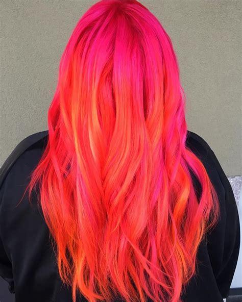 Sunset Hair Hairlikemedusa Sunset Inspired Arctic Fox