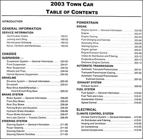 automotive repair manual 1998 lincoln town car transmission 2003 lincoln town car repair shop manual original