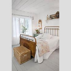White Vintage Bedroom  Rustic Farmhouse Living Pinterest
