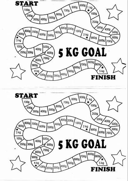 Loss Weight Chart Colour Week Journal Goal