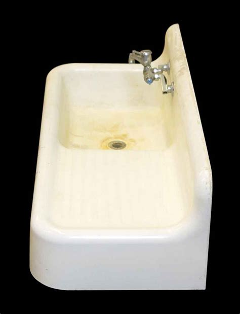 kitchen porcelain sink with drying bay olde good things