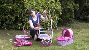 Roxy Roller 3 In 1 Dolls Toy Pram Combination Pushchair
