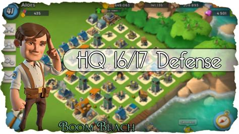 foto de Boom Beach Verteidigung & HQ 16/17 Layout (Deutsch