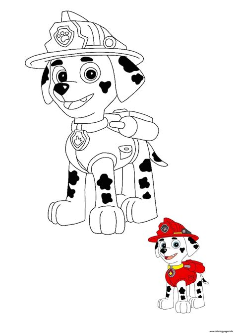 marshall coloring pages printable