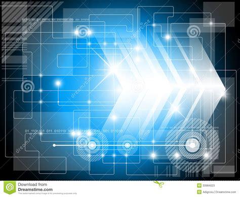 Futuristic Technology Background Stock Illustration