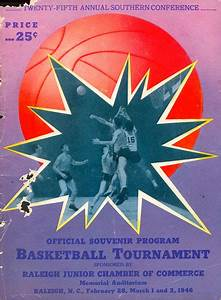 Photo: 1946 Southern Conference Tournament Game Program ...