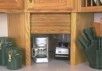 unfinished wood appliance garages corner units