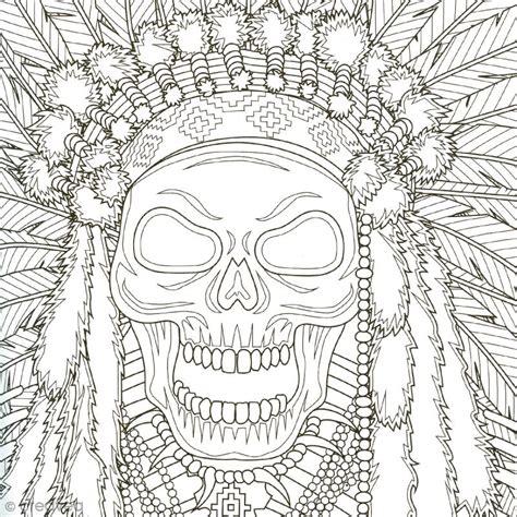 Coffret De Coloriage Art Thérapie  Têtes De Mort à